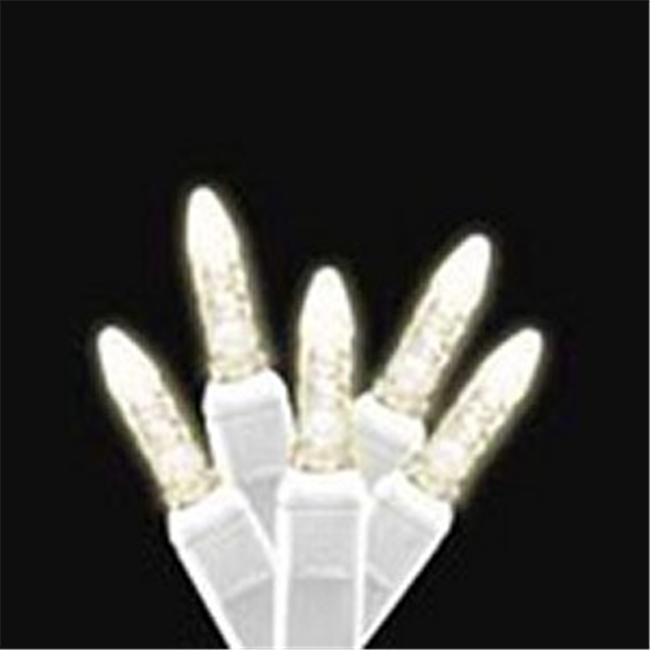 Reinders 88694-R Icicle LED Light Strands - Warm White with White Wire
