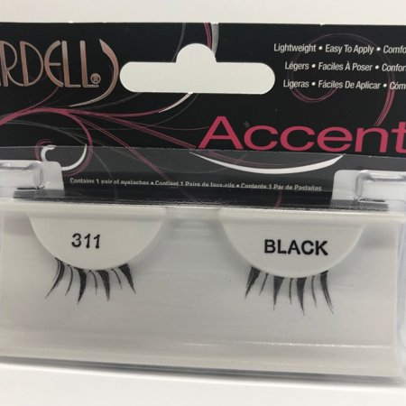 (Pack of 6) Ardell Accent Lashes, Black [311] 1 Pair