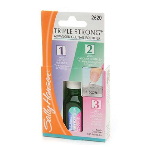 Sally Hansen Triple Strong Advanced Gel Nail Fortifier, [2620], 0.45 oz (Pack of 2)