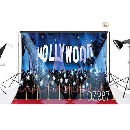 GreenDecor Polyster 7x5ft Hollywood Photo Backdrops Studio Background Studio Props - Hollywood Sign Backdrop