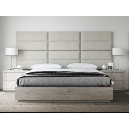 Vant Upholstered Headboards Accent Wall Panels Packs Of 4 Suede Neutral 39 Wide X 11 5 Height Easy To Install Twin King Size Headboard