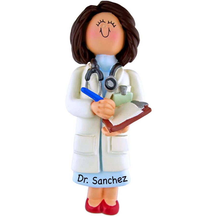 Personalized Christmas Ornament - Female Doctor