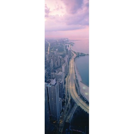 Party City In Illinois (Aerial view of buildings in a city Chicago Illinois USA Poster)