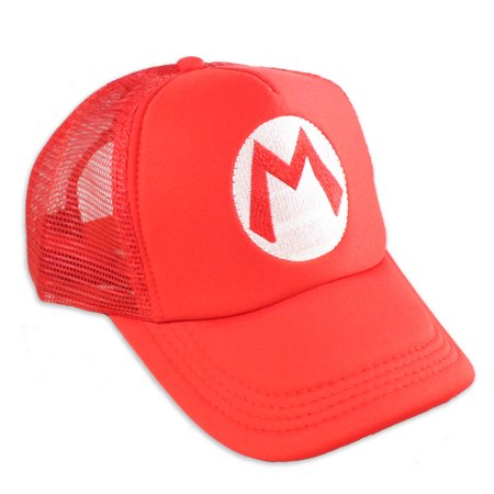 Super Mario Hat - Adult Snapback Baseball Cap for Cosplay Party - Baseball Furies Cosplay