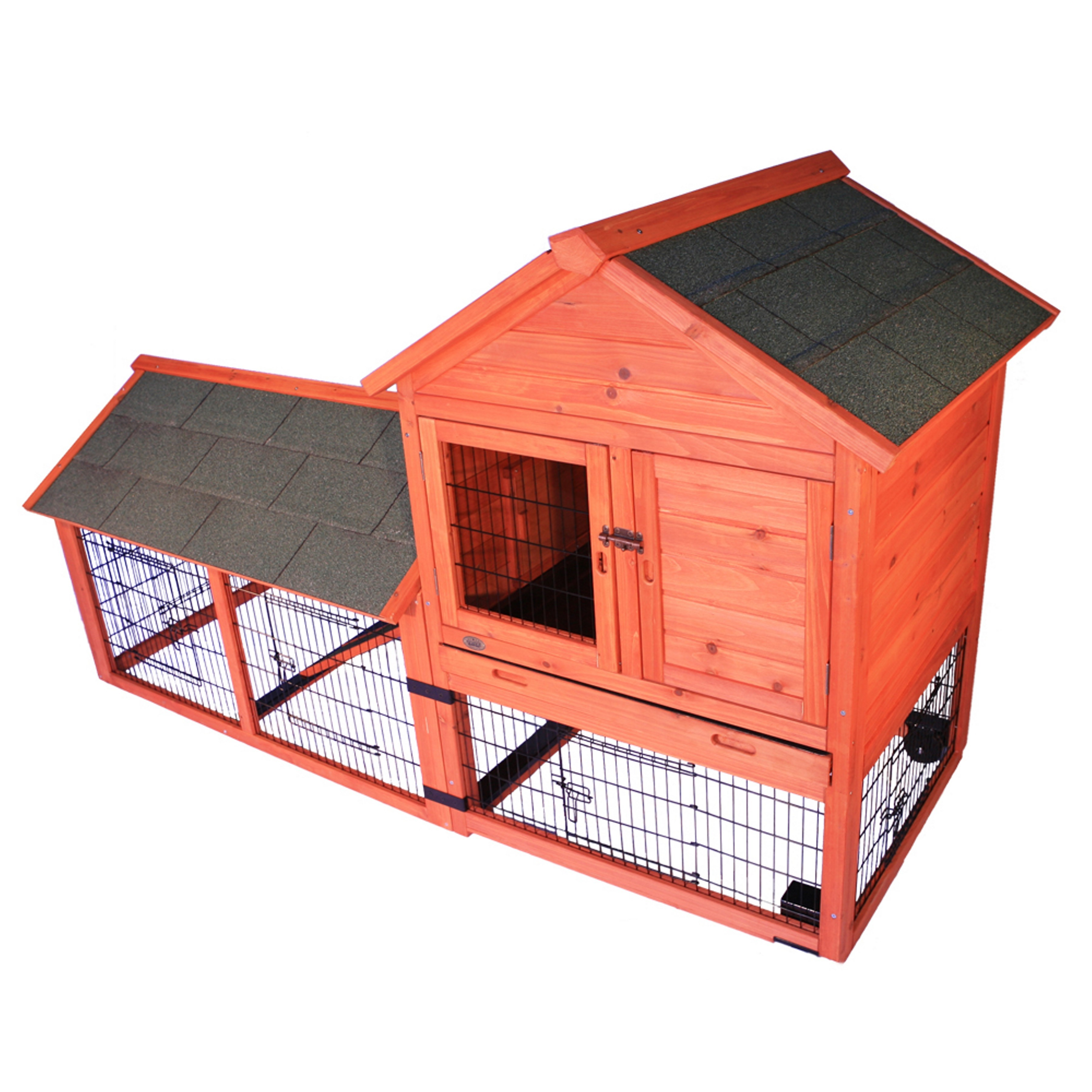 Trixie Pet Rabbit Hutch with Outdoor Run and Wheels