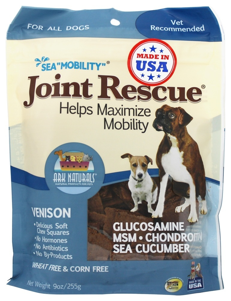 Ark Naturals Sea Mobility Joint Rescue 20003 Venison Jerky Dog Treat, 9 oz by Ark Naturals