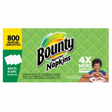 Wholesale Paper Products (Product of Bounty Quilted Paper Napkins, 800 ct. - White - Paper Towels & Napkins [Bulk)
