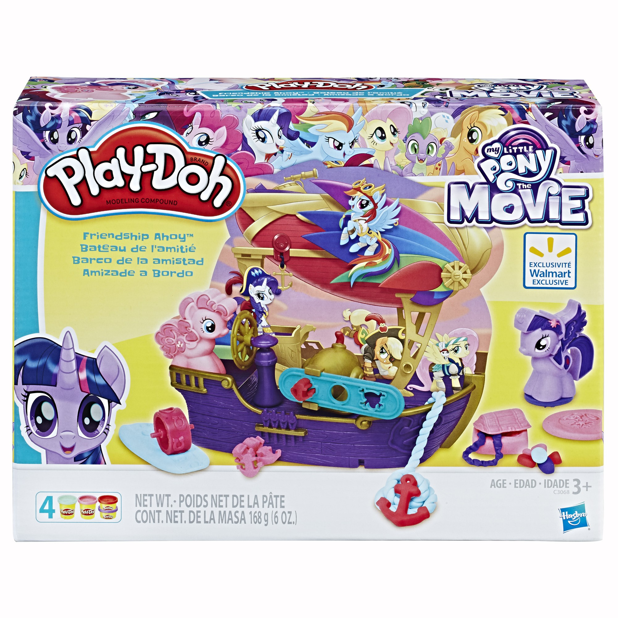 Play Doh My Little Pony Friendship Ahoy Set With 4 Cans Of Dough