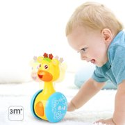 LeadingStar Cartoon Giraffe Tumbler Doll Roly-poly Baby Toys Cute Rattles Ring Bell Newborns 3-12 Month Early Educational Toy