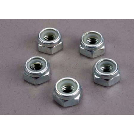 Nuts, 6mm nylon locking (wheel nuts 1/6 and 1/5 scale) (5) (Locking Tray)