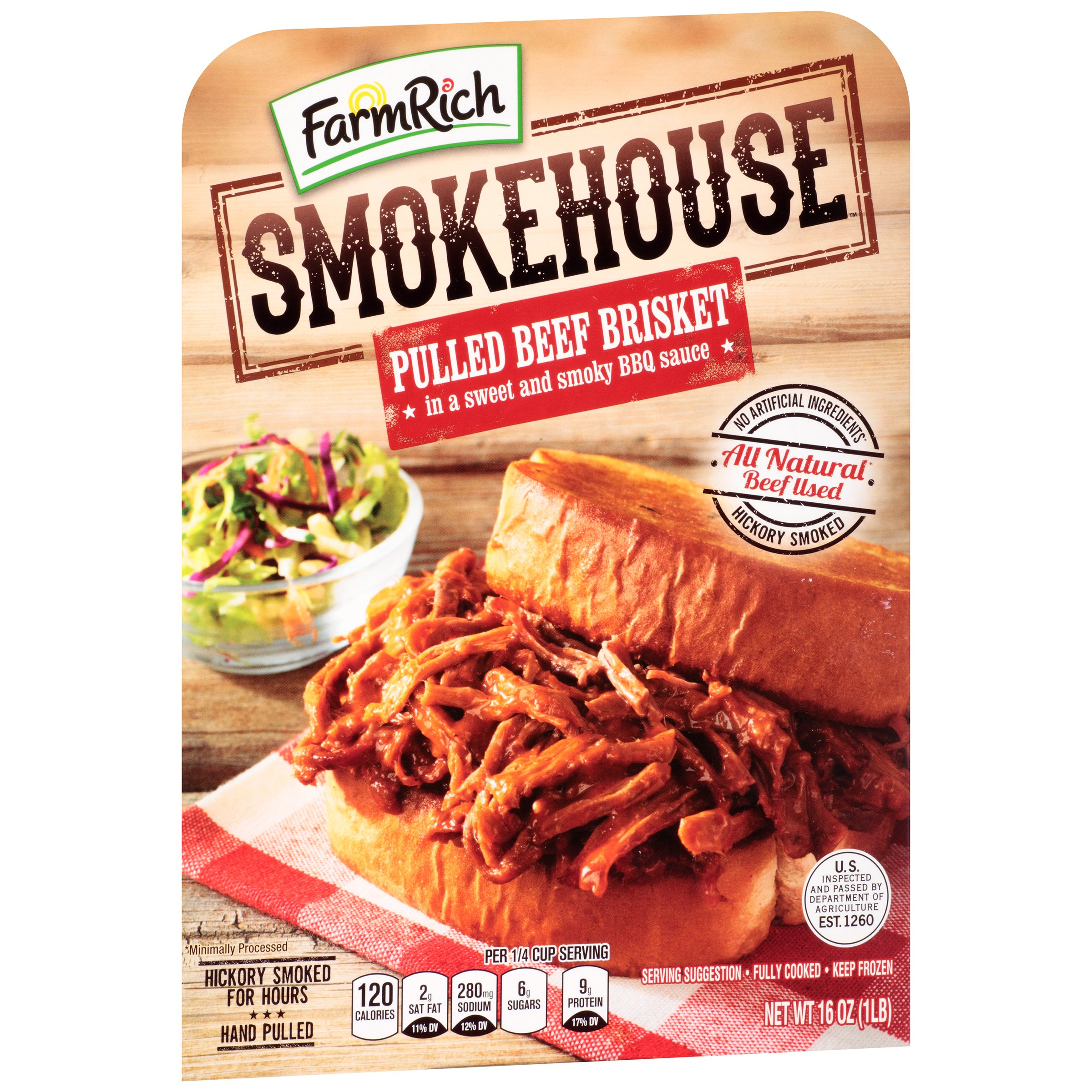 Farm Rich® Smokehouse™ Pulled Beef Brisket 16 oz. Tray