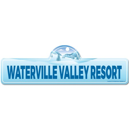 - Waterville Valley Resort Street Sign | Indoor/Outdoor | Skiing, Skier, Snowboarder, Décor for Ski Lodge, Cabin, Mountian House | SignMission personalized gift