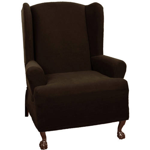 Maytex Stretch Pixel 1-Piece Wing Chair Slipcover by Maytex