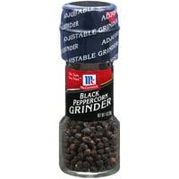 (2 pack) McCormick Black Pepper Grinder, 1 oz