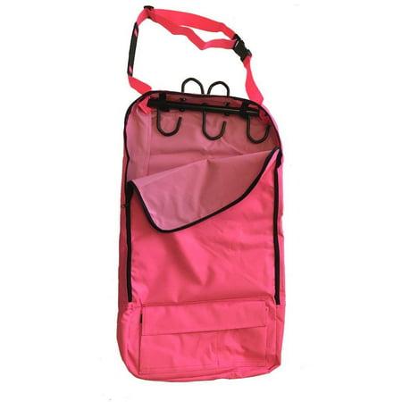 Deluxe Bridle Halter Tote Bag Carrier Tack Racks 600D Multi Pockets Hot Pink