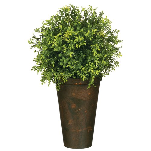 Gracie Oaks Tealeaf Berry Foliage Topiary in Pot