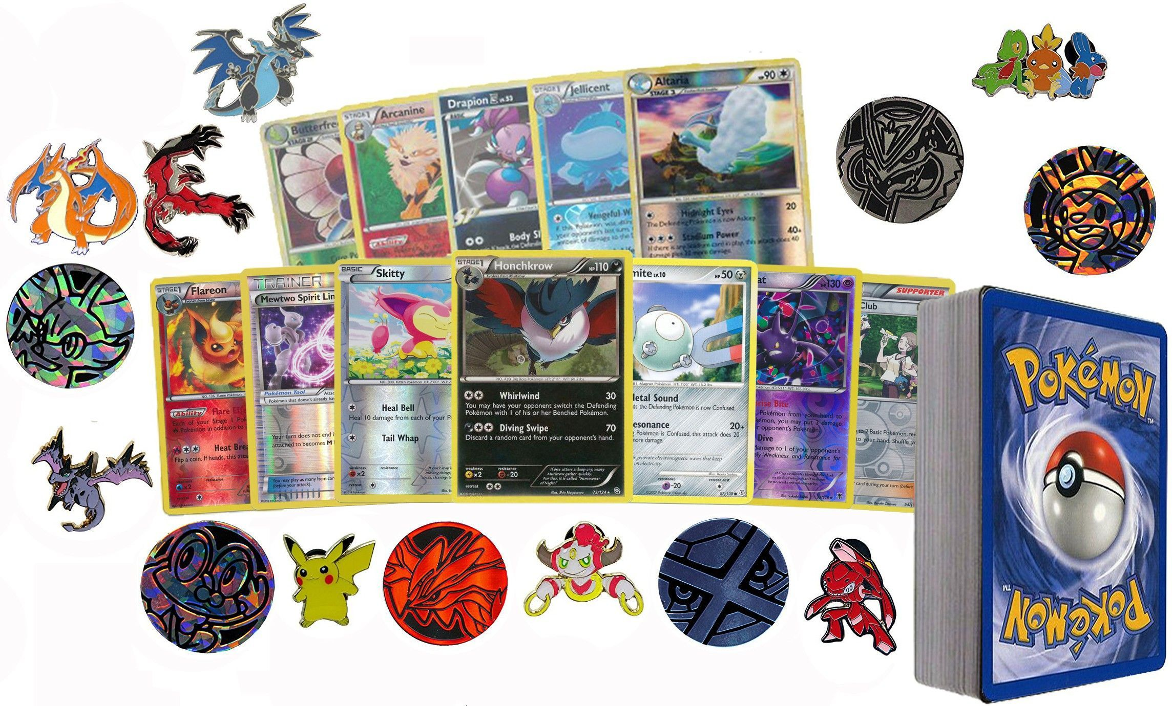 50 Assorted Pokemon Card Pack Lot This Comes With Foils, Rares, Random Pokemon Pin, and Pokemon Collectible... by POKEMONUSA