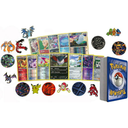 50 Assorted Pokemon Card Pack Lot This Comes With Foils, Rares, Random Pokemon Pin, and Pokemon Collectible (Eagles Race)