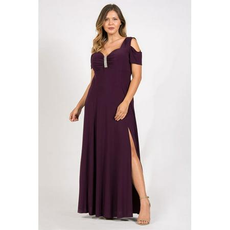 R&M Richards - R&M Richards Long Plus Size Formal Stretchy Dress ...