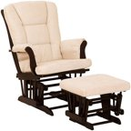 Baby Relax Deluxe Glider Rocker And Ottoman Walnut