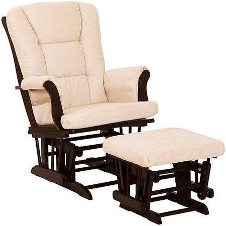 Storkcraft tuscany baby glider and ottoman espresso and for Stork craft tuscany glider rocking chair ottoman