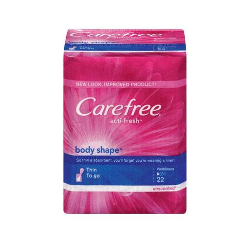 Carefree Body Shape Thin Scented Pads - 22 Ea/Pack, 18 Pack