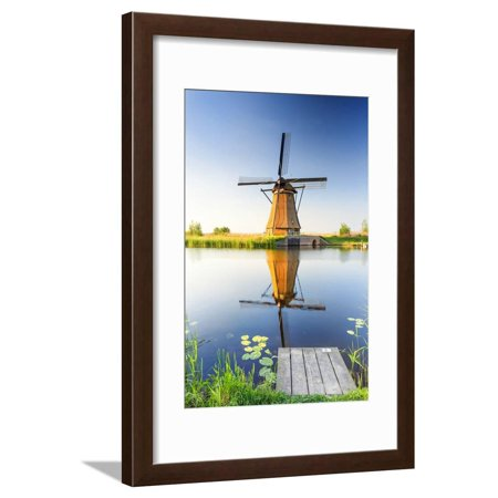 Netherlands, South Holland, Kinderdijk. Windmills Framed Print Wall Art By Francesco Iacobelli