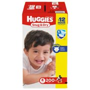 Huggies Snug & Dry Diapers Size 4 - 200 ct. ( Weight 22- 37 lbs.) - Bulk Qty, Free Shipping - Comfortable, Soft, No leaking & Good nite Diapers