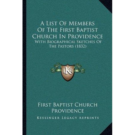 A List of Members of the First Baptist Church in Providence: With Biographical Sketches of the Pastors (1832) - image 1 of 1