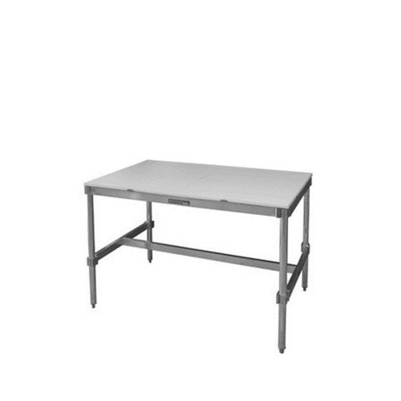 Prairie View AIFT303424-PT Poly Top Aluminum I-Frame Table, 34 to 35.5 x 30 x 24 in. - image 1 of 1