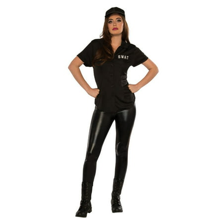 Halloween SWAT Shirt Adult - Womens Swat Costumes