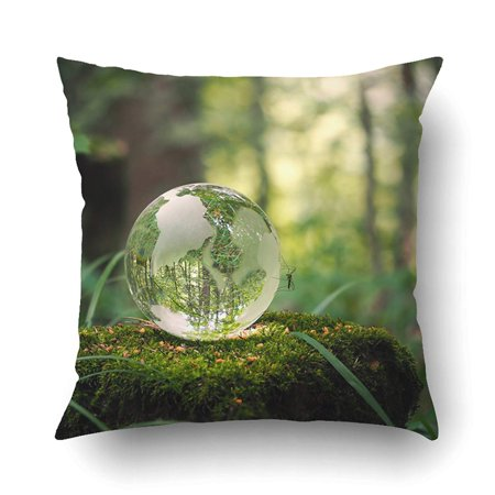 ARTJIA Ball On A Stump With Moss Glass Material Concepts And Themes Environment Nature Pillowcase Pillow Cushion Cover 16x16 inch](Gatsby Themed Ball)