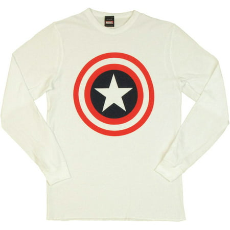 Captain America Thermal Long Sleeve T Shirt (Captain America Long Sleeve)