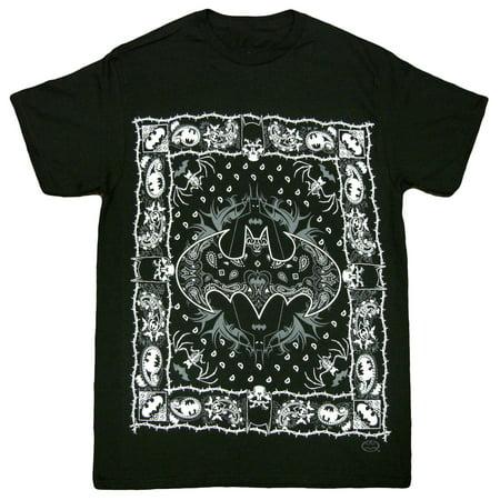 Batman Full Bandana Adult T-Shirt (Adult Batman Shirt)