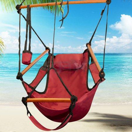 Gizmo Supply Hammock Chair Swing Seat Indoor Outdoor Garden Patio Yard Single Hanging Rope