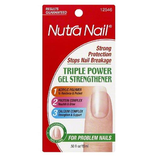 Nutra Nail Triple Power Gel Strengthener 0.50 oz (Pack of 6)