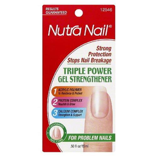Nutra Nail Triple Power Gel Strengthener 0.50 oz (Pack of 6)