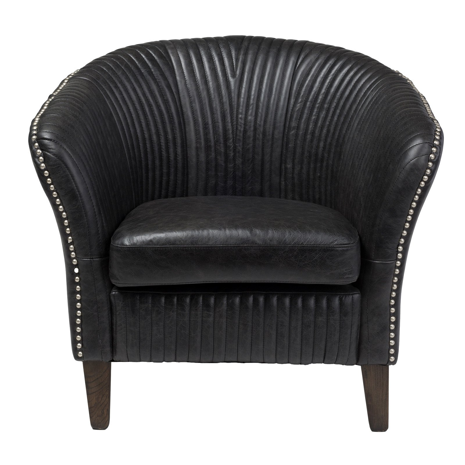 Lambert Barrel Chair with Nailhead Trim