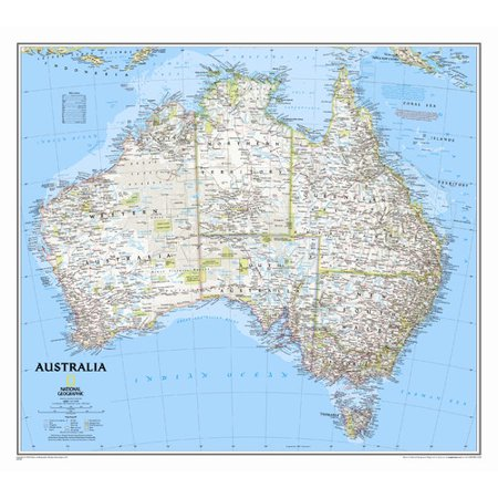 National Geographic Maps Australia Classic Wall Map