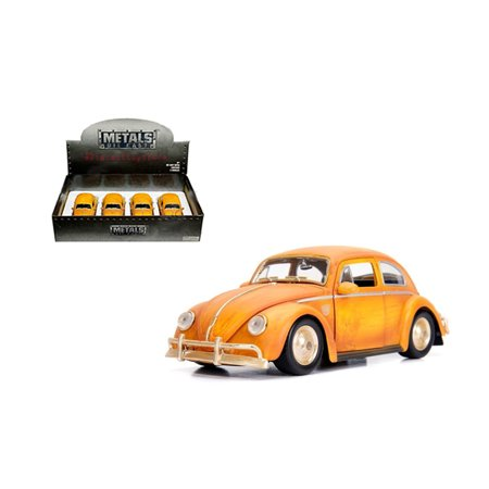 Java Metal Cover - JADA 1:24 DISPLAY - METALS - HOLLYWOOD RIDES - TRANSFORMERS BUMBLEBEE - 1971 VOLKSWAGEN BEETLE BUMBLEBEE (WEATHERED YELLOW) 1 ITEM WITHOUT RETAIL BOX 30452