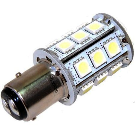 HQRP BAY15d 24LED SMD5050 Cool White Light Bulb for Aqua Signal Series 40, 41, 42,& 50 / Hella 2984 and Perko 200 Fixtures 10-30V DC Replacement plus HQRP
