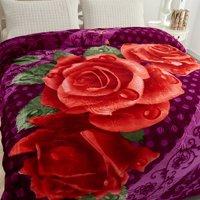 Heavy Korean Mink Plush Fleece Bed Blanket