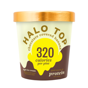 Clover Ice Cream (Halo Top, Chocolate Covered Banana Ice Cream, Pint (8)