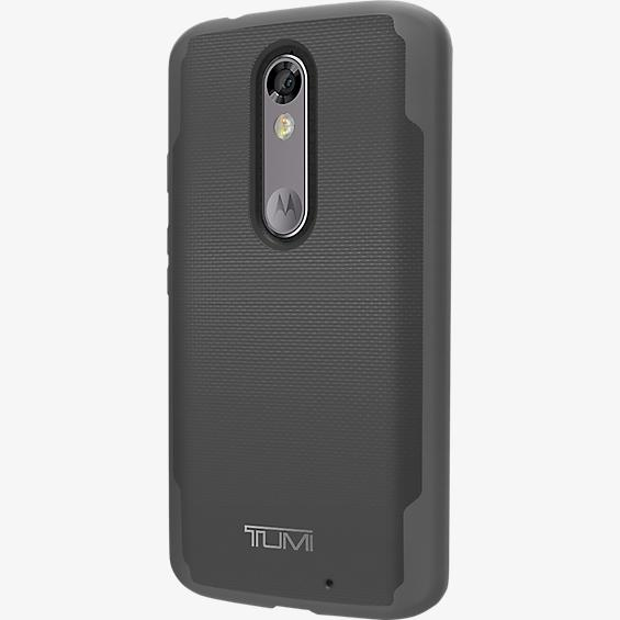 Refurbished - TUMI Coated Canvas Co-Mold Case for DROID Turbo 2 - Gray/Black