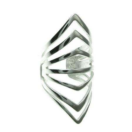 Sterling Silver Filigree Gothic Ring Clip Earring Cuff - Filigree Design Cuff