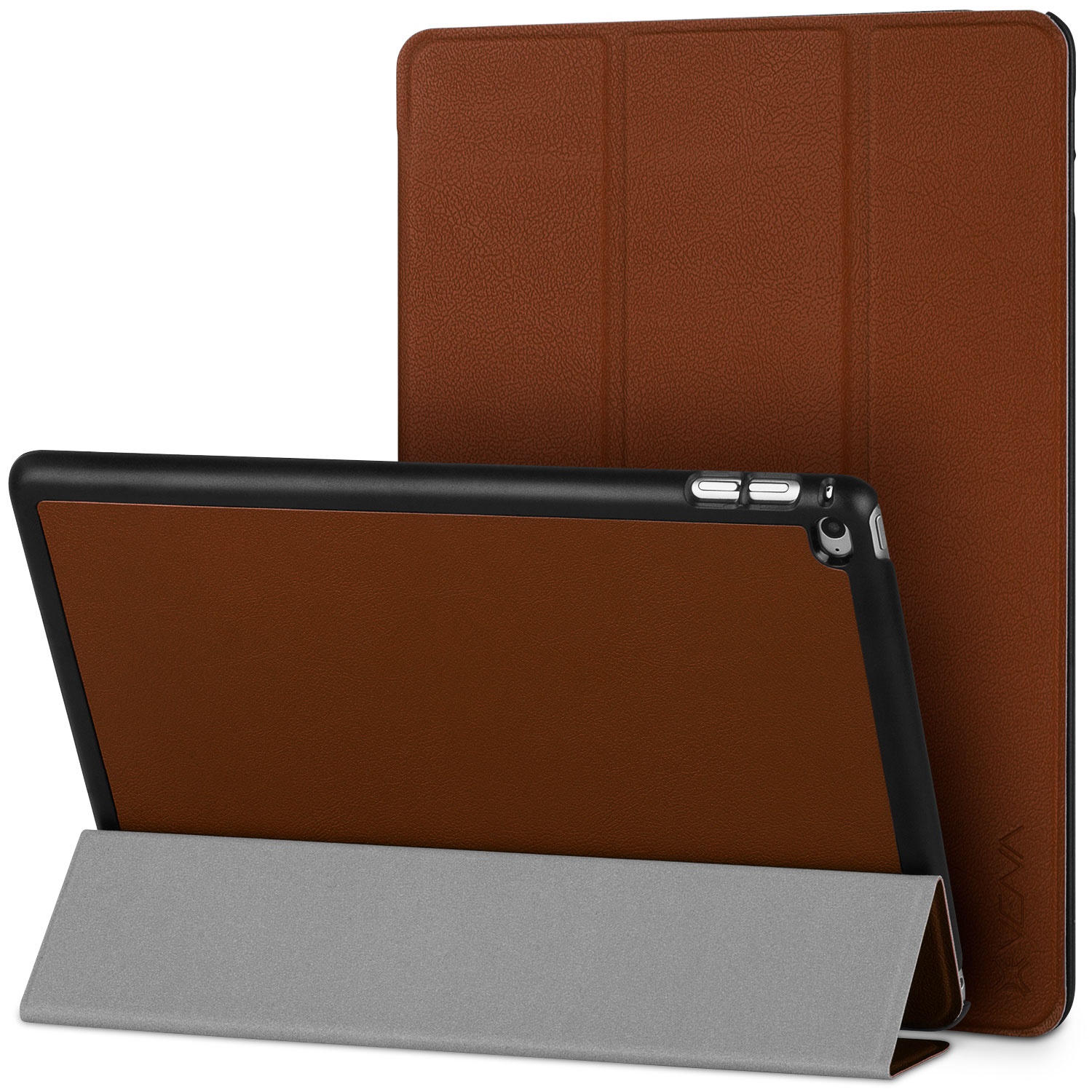 iPad Air 2 Smart Cover - VENA [vCover] Slim Leather Auto Sleep / Wake Hard Shell Case for Apple iPad Air 2 (2014) - Brown