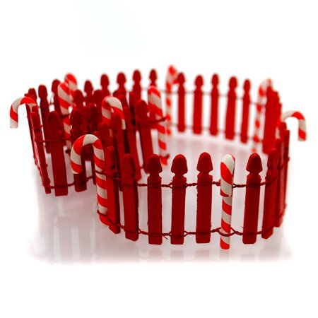 Candy Cane Fence (Department 56 Accessory CANDY CANE FENCE Wood North Pole Series)