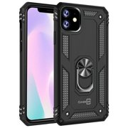 CoverON Apple iPhone 11 Case with Magnetic Car Mount Compatible Ring Holder Kickstand Phone Cover - Resistor Series