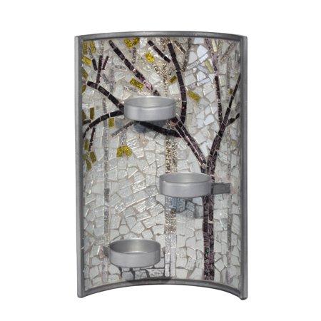 "Dale Tiffany AV15427 Fall Mosaic 11"" Tall Wall Mounted Candle Holder"