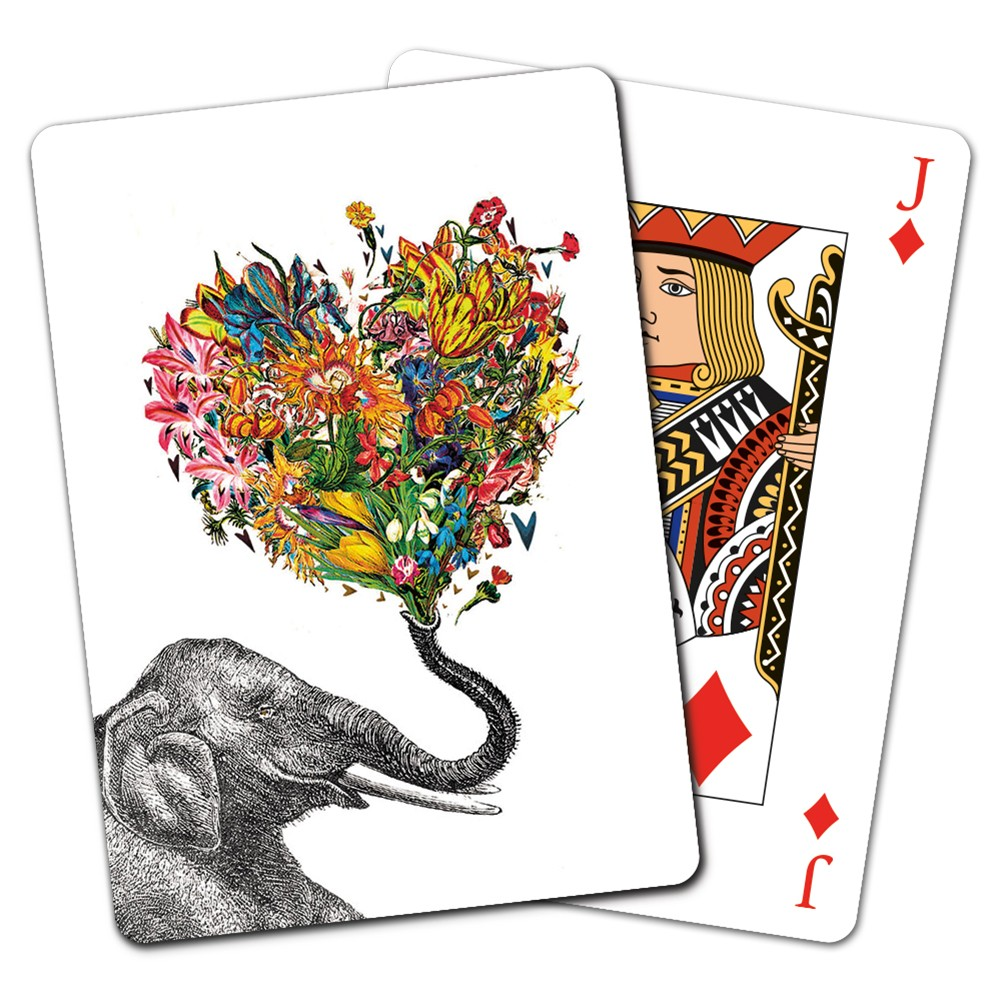 Tree-Free Greetings Love Elephant Playing Cards -CD15864